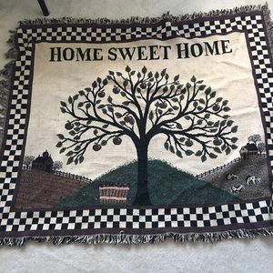 Other - Blanket throw home sweet home brown green tree